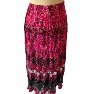 NWT •Women's• Bila BoHo •Magenta Skirt • Medium